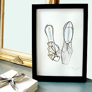 Bespoke His And Her's Shoe Picture - living & decorating