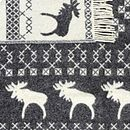 Moose Design Wool Blanket