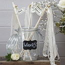 Vintage Style Cream Wedding Wands