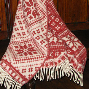 Fairisle Design Wool Blanket