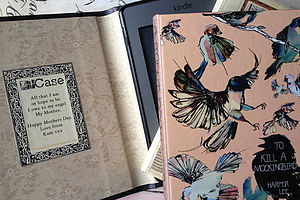 Personalised Vintage Book Look Kindle Cover - bags & cases