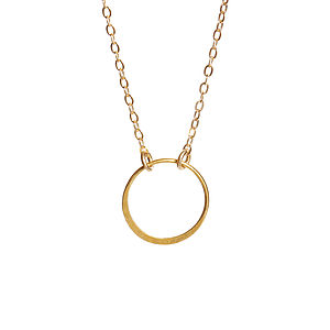 14k Gold Fill Infinity Necklace - necklaces & pendants