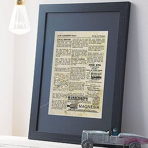 Personalised Home History Print - art & pictures