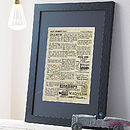 Personalised Home History Print