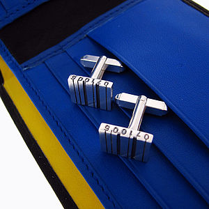 Side Facing Barcode Cufflinks - men's accessories