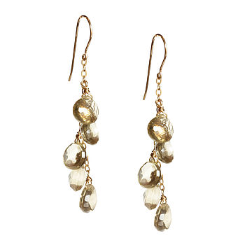 Quartz If Only It Rained Gemstones Earrings