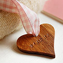 Personalised New Baby Wooden Heart Keepsake