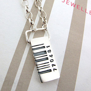 Barcode Tag Pendant - necklaces