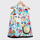 Girl's Town Print Summer Dress