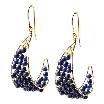 Lapis Lazuli Fly With Me To The Moon Earrings
