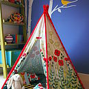 Child Teepee, Mat And Cushion Poppy Design