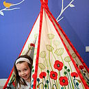 Child in teepee
