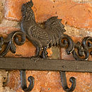 Farmhouse Rooster Five Hook Store
