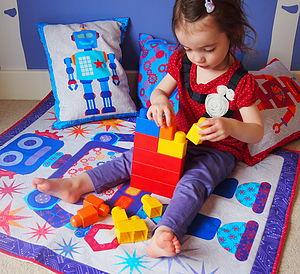 Robot Baby Play Mat - living room
