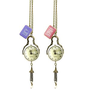 Personalised Pocket Watch Necklace - watches