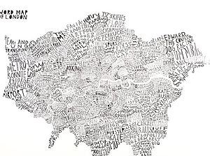 Typographic Word Map Print - pictures, prints & paintings