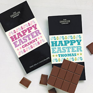 Personalised 'Happy Easter' Chocolate Bar - chocolates & confectionery
