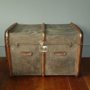Tribal Print Vintage Trunk - chests & blanket boxes