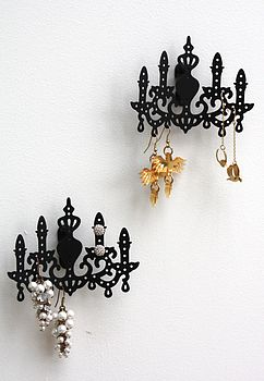 Wall chandeliers in black