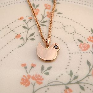 Rose Gold Bird Necklace - necklaces & pendants