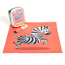 Zebra Microfibre Cleaning Cloth