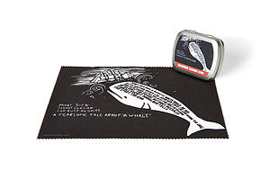 Moby Dick Microfibre Cleaning Cloth - glasses cases