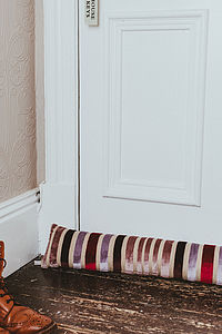 Luxurious Stripe Draught Excluder