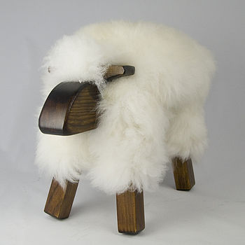 Sheepskin Sheep Stool
