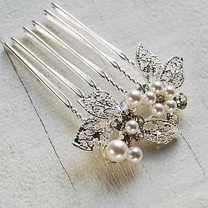 Leaf Cluster Hair Comb - bridal accessories