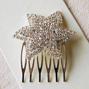 Vintage Style Star Hair Comb - wedding fashion