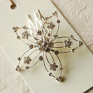 Vintage Style Flower Hair Comb - hair accessories