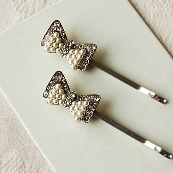 Set Of Two Bow Hair Slides