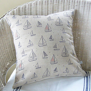 Yachts Linen Cushion - decorative accessories
