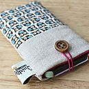 Linen Owl Print Phone Case