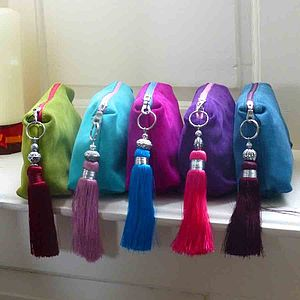Suede Tassel Clutch Bag - bags & purses