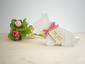 Personalised Wooden Westie Dog Decoration - shop by price