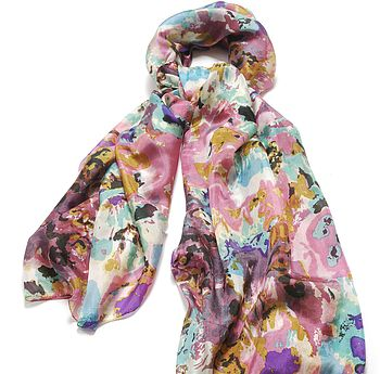 Large 'Melody' Pure Silk Scarf