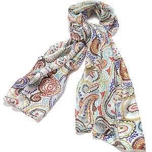 'Vivid Paisley' Pure Silk Scarf - accessories
