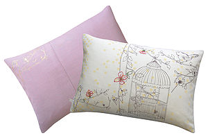 Dotty Bird Rectangle Cushion - cushions