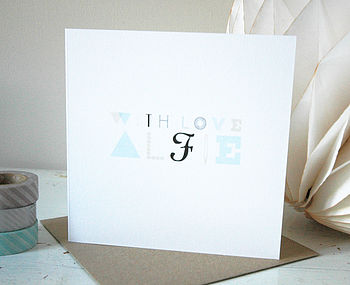 Typographical Personalised Card One