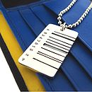 Wide Barcode Tag Pendant