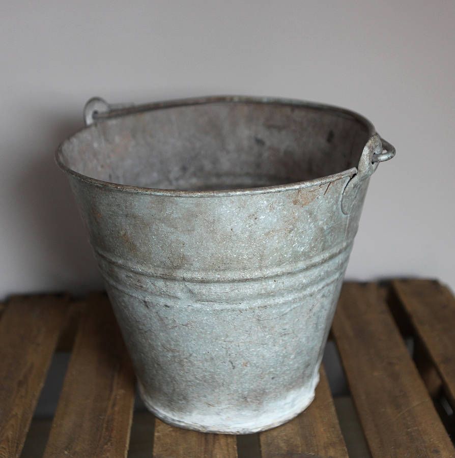 Vintage Metal Bucket By Homestead Store
