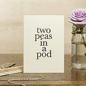 'Two Peas In A Pod' Card - shop by category