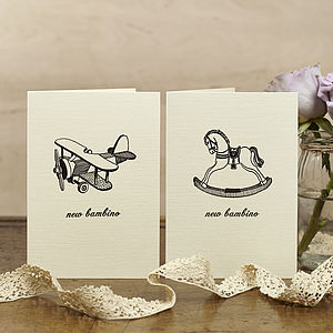 Hand Printed New Baby Cards - new baby & christening cards