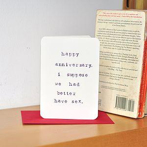 Anti Romance Anniversary Card