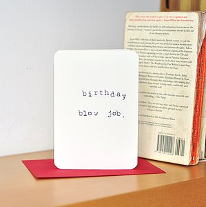 'Birthday Blow Job' Card