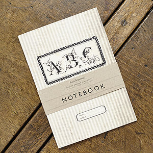 Vintage Inspired A B C Notebook