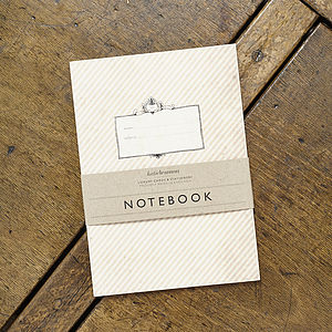 Vintage Inspired Striped Notebook