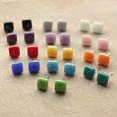 Square Glass Stud Earrings