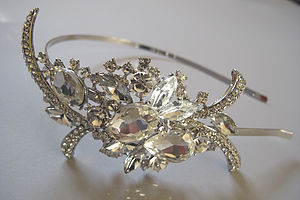 Bridal Crystal Side Hairband